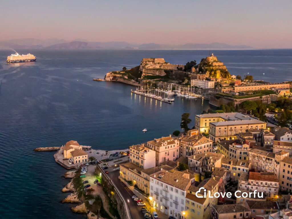Corfu old town castle old city