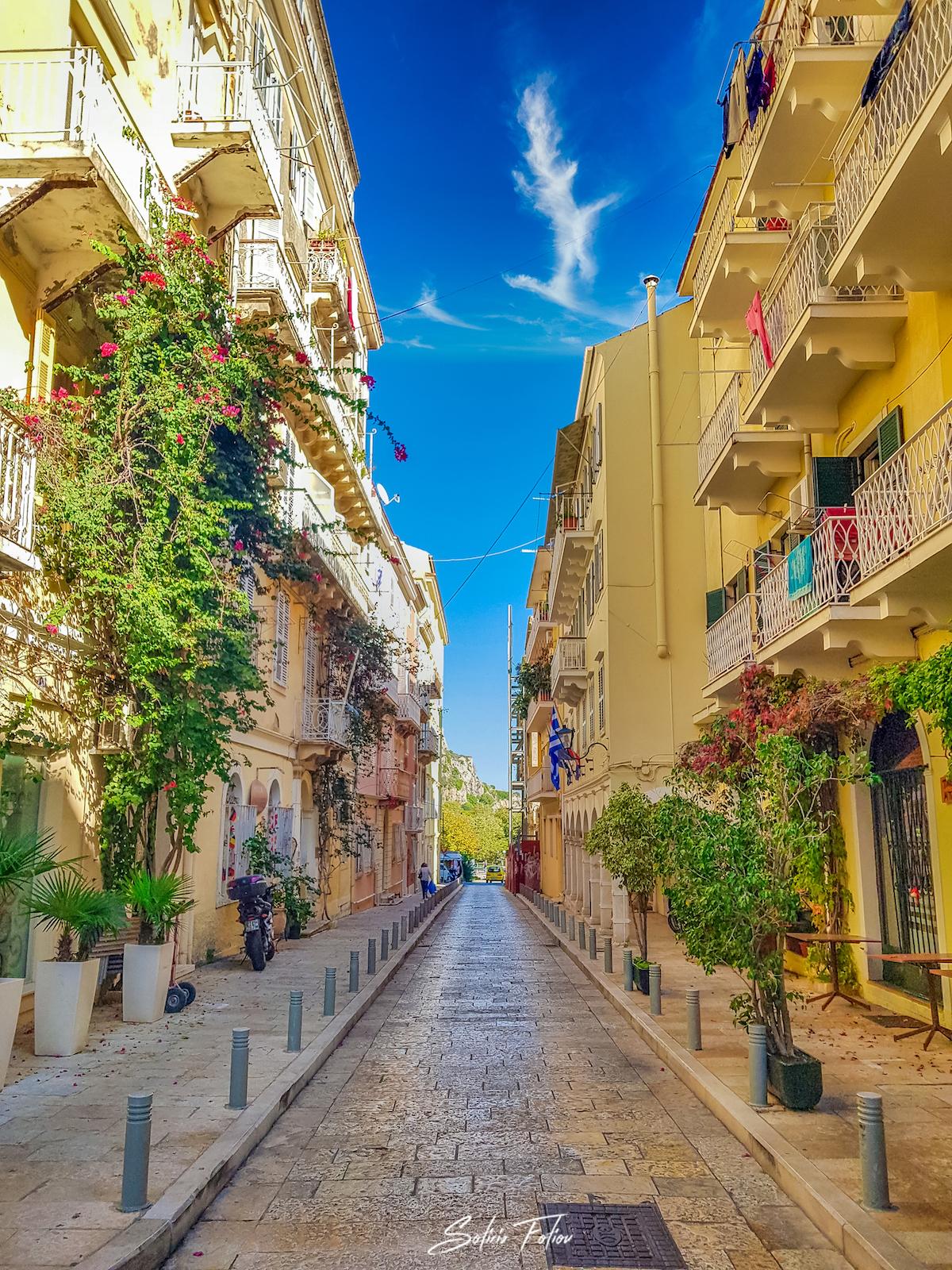 Architecture in Corfu Town